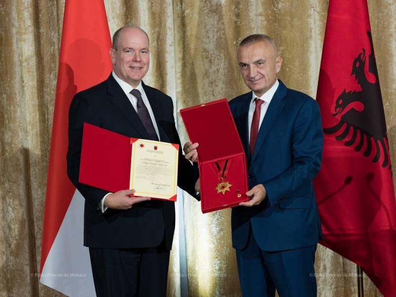 Prince Albert II visits Albania