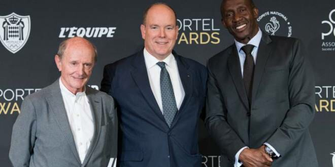 Prince Albert at the Sportel Awards Ceremony
