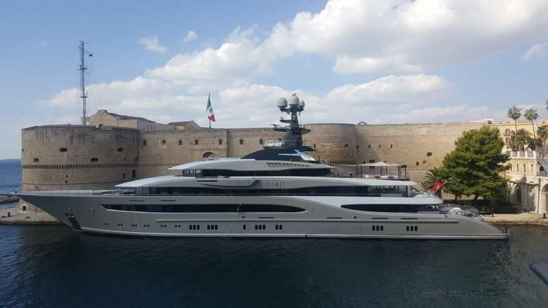 95-meter superyacht Kismet in $150 million movie