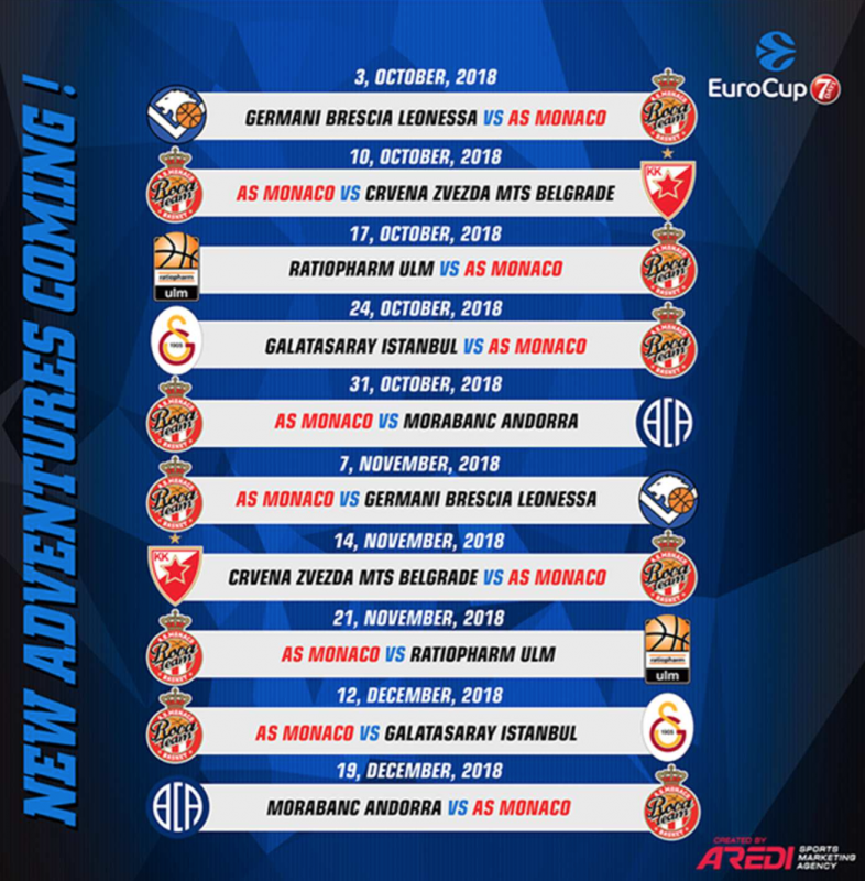 AS Monaco Basket Schedule