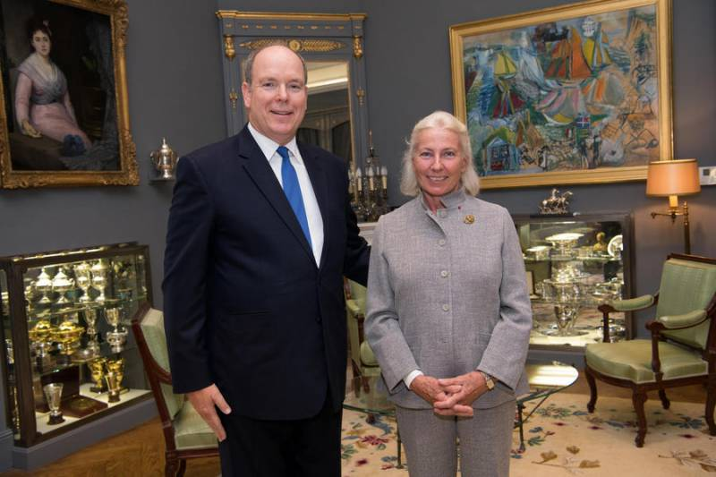 Prince Albert and Sylvie Esparre