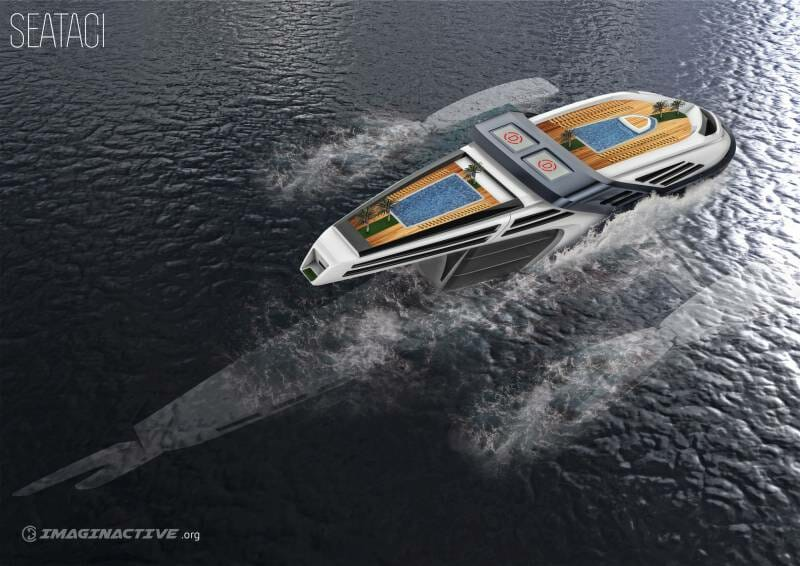 Seataci - this futuristic superyacht concept throws us back into 2016