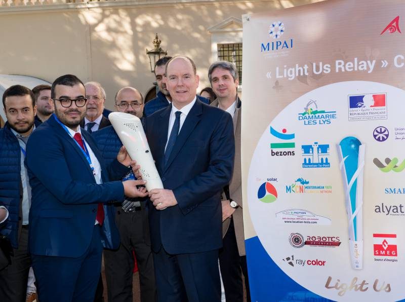 """Photo of """"Light Us Relay"""" was launched from the Principality to reinforce its strong eco-message in view of COP24"""