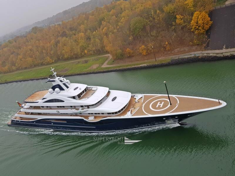 111-metre Project TIS by Lurssen heading to the Baltic sea for sea trials