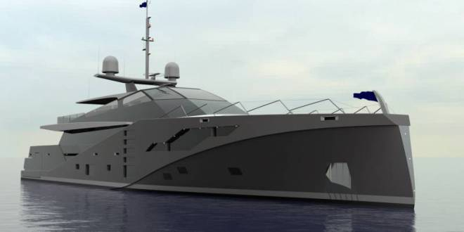46-meter anti-radar superyacht project Stealth