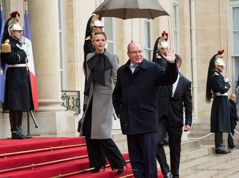 Princely Couple and President Macron gather for Remembrance Day