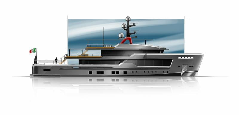 Alfarosso - the new explorer yacht by CRN and Francesco Paszkowski