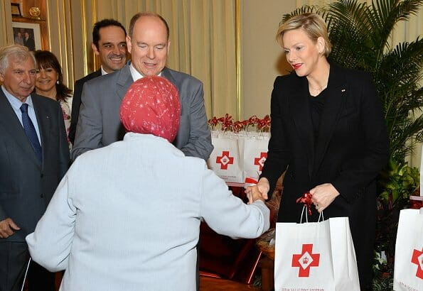 Princess Charlene and Prince Albert visited the Red Cross Centre