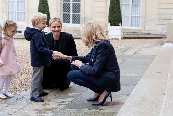 Brigitte Macron hosted Princess Charlene and her twins