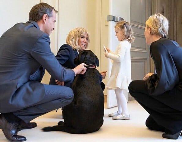 Brigitte Macron hosted Princess Charlene and her twins