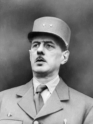 president Charles de Gaulle