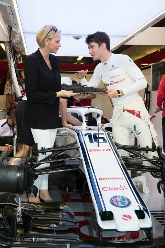 Princess Charlene attendsAbu Dhabi Grand Prix