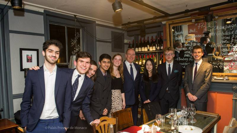 Prince Albert visits Cambridge