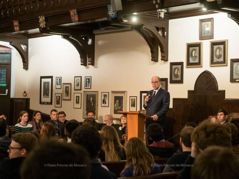 Prince Albert visits Cambridge