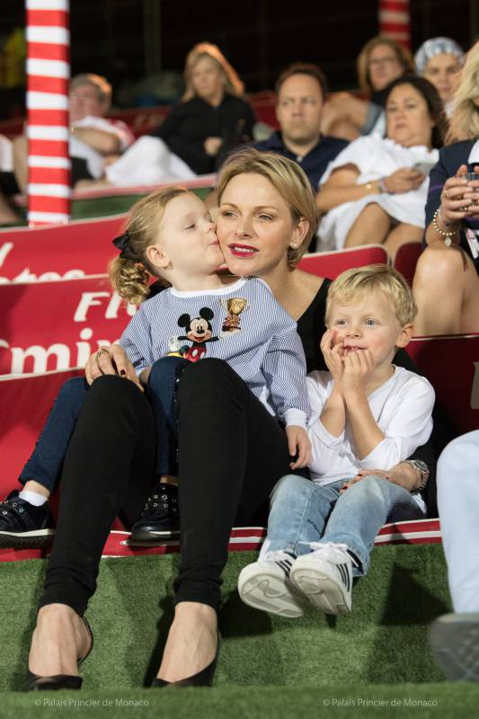 Princess Charlene attends Abu Dhabi Grand Prix and Dubai Rugby Sevens