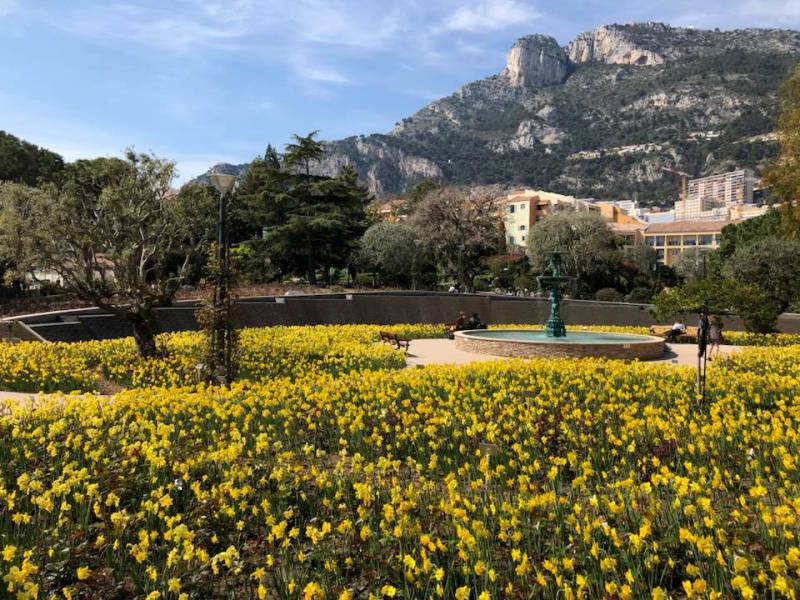 The Fontvieille Landscape Park and the Princess Grace Rose Garden