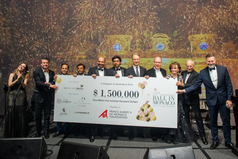 Photo of Gala in Singapore for Prince Albert II Foundation raises 1,5 Million Euros