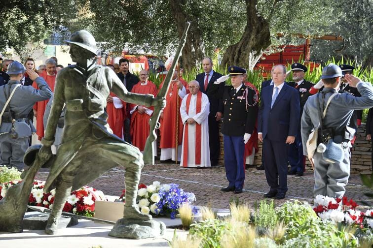 Prince Albert unveils Tribute Statue to Monegasque Firefighters