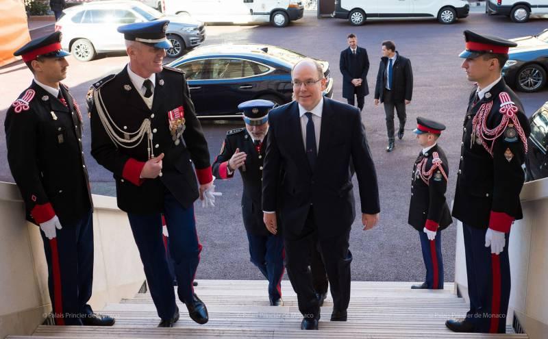 Prince Albert and Princess Stephanie attend Saint Sebastian Celebrations