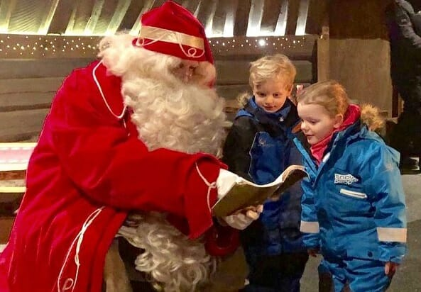 Princess Gabriella and Crown Prince Jacques met with Santa