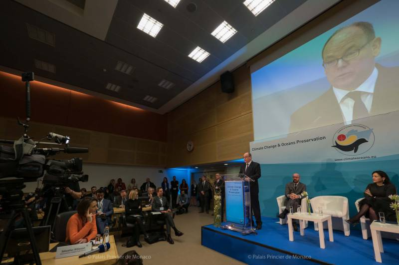 Photo of Prince Albert's speech on Climate Change in Brussels and other princely news