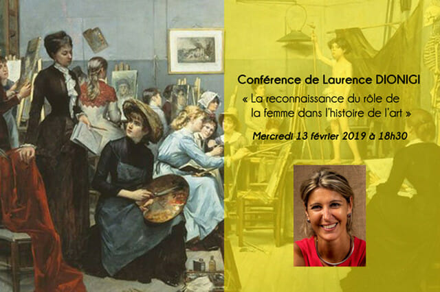 "Lecture ""Recognising the role of women in the history of art"" by Laurence Dionigi"