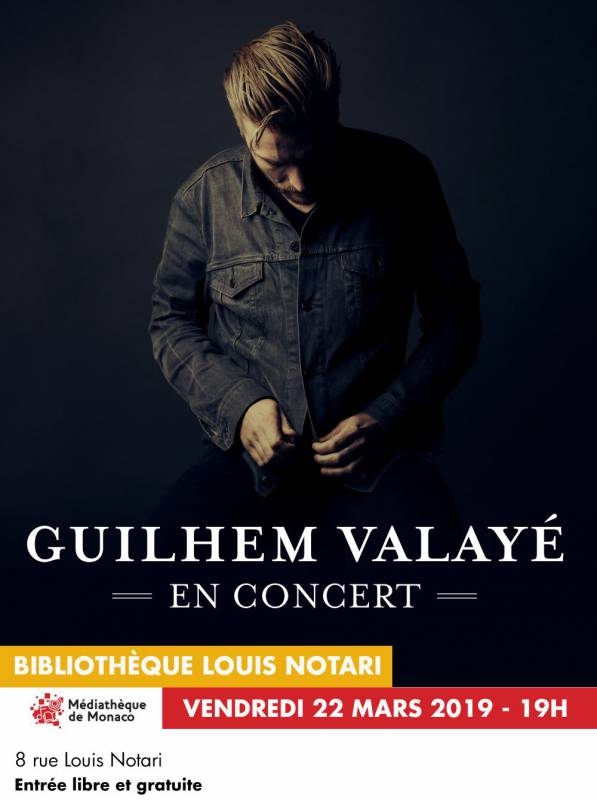 Concert by French singer-songwriter Guilhem Valayé