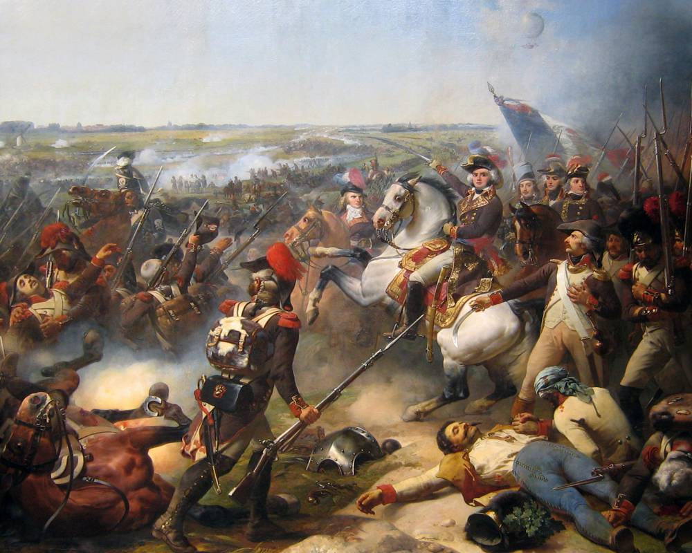 The French Revolutionary Army defeated the combined armies of Austrians, Dutch and British at Fleurus in June 1794. @wikipedia.org