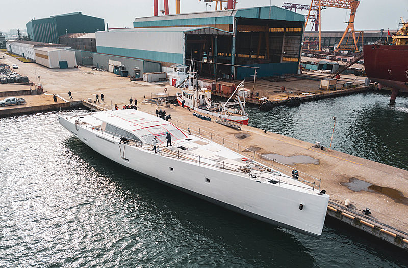 First 42m E-volution yacht launched by Perini Navi