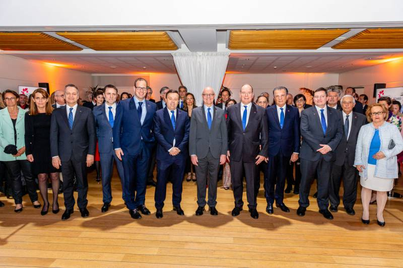 Monaco Economic Board celebrates 20 Years in the company with Prince Albert