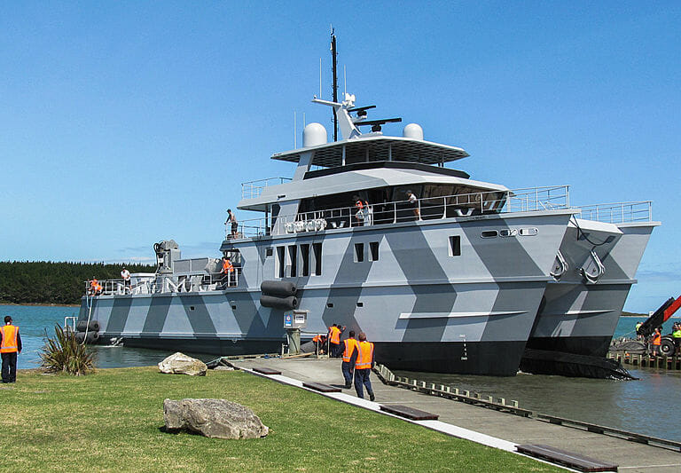 Photo of The 39.5 meter tri-deck catamaran The Beast is launched and other yacht news