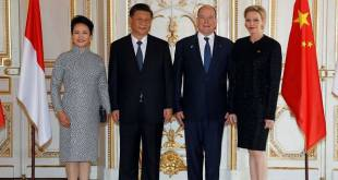 Chinese President visits Prince Albert and Princess Charlene