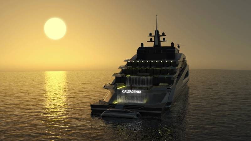 Photo of 135m gigayacht concept California by Kurt Strand and other yacht news