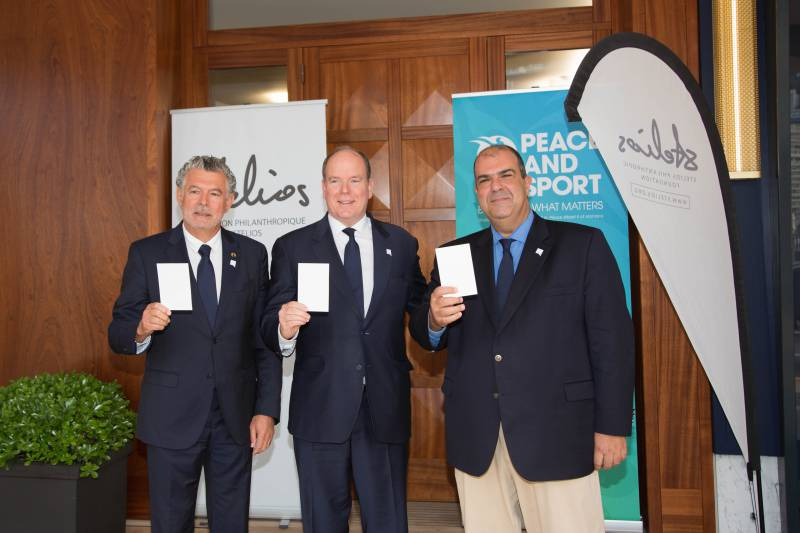 Photo of Stelios Philanthropic Foundation joined up with Peace and Sport to promote sport as a bi-communal dialogue tool
