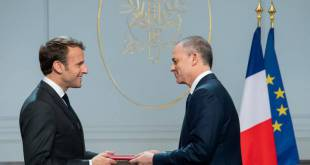 H.E. Mr Christophe Steiner presented his credentials to Emmanuel Macron