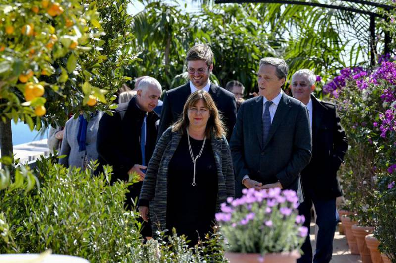 """Photo of Official opening of temporary garden """"A Balcony on the Mediterranean"""""""