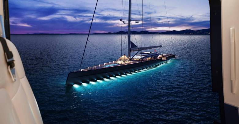 73m sailing superyacht concept MM725 by Malcolm McKeon