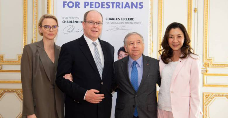 Prince Albert and Princess Charlene received Mr. Jean Todt