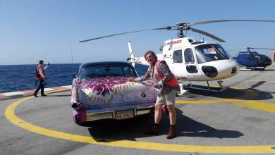 Photo of Heiko Saxo's stunning Rolling Work of Art landed on the Principality to celebrate Queen Elizabeth's Birthday