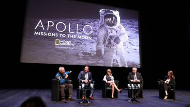 "Photo of ""Apollo, Missions to the Moon"" world preview for the Monegasque audience experiencing a new moon landing"