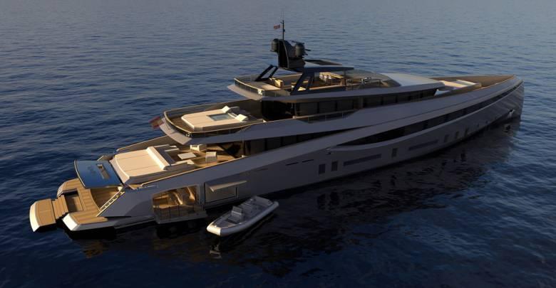 55m aluminium superyacht concept Soana introduced by Rodriguez Design
