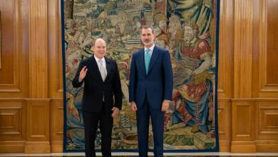 Photo of Audience between Prince Albert II and King Felipe VI at the Palace of Zarzuela and other princely news