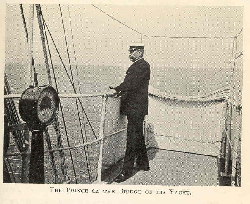 Albert I, Prince of Monaco on the Bridge of His Yacht @commons.wikimedia.org
