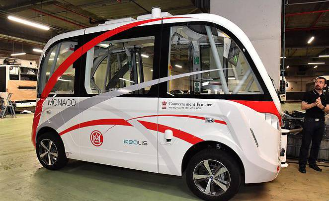 "The Monegasque ""Smart Principality"" is Under Way A First Experience of an Autonomous Electric Shuttle Bus on the Rock this Summer"
