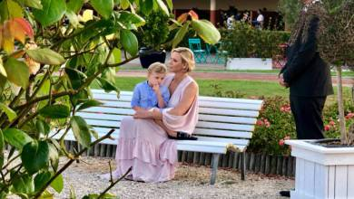 "Photo of Monaco's Princess Charlene and Prince Jacques ""Trot"" Over To The Hippodrome at Cagnes-sur-Mer For Charity"