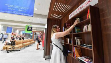 Photo of New book exchange library at Monaco station