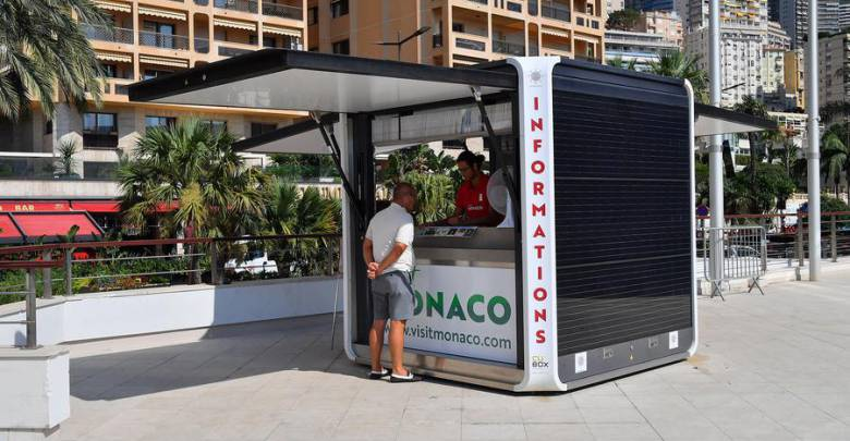 Monaco Tourist and Convention Authority is Trialling a Solar-Powered Information Kiosk