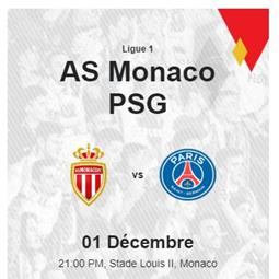 French Premier League Football Championship: Monaco - Paris Saint Germain