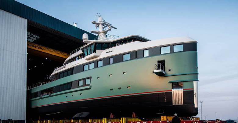 The first SeaXplorer expedition superyacht launched by Damen