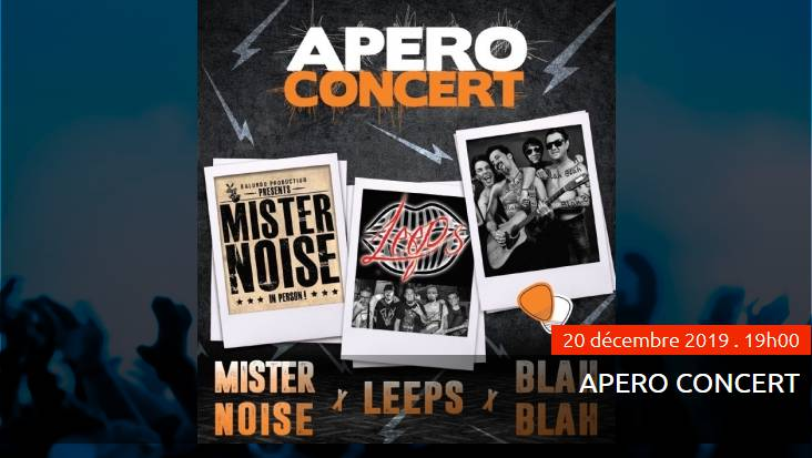 Apero Concert with Mister Noise, Leeps and Blah Blah groups